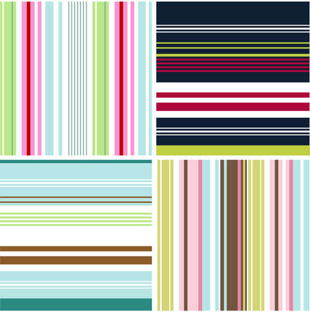 blue stripes: seamless patterns with fabric texture Illustration