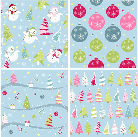 christmas texture, seamless patterns with fabric texture Vector