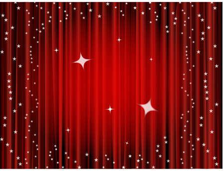 Fondo de cortina de teatro, cortina de película Foto de archivo