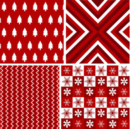 chequered backdrop: seamless patterns with fabric texture, christmas texture