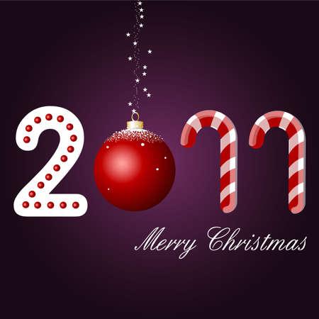 merry christmas card, 2011 Vector