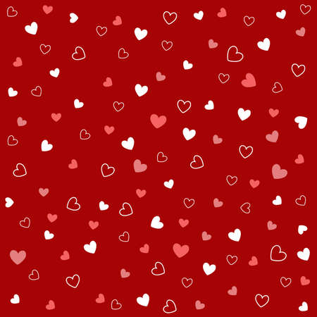 seamless pattern with hearts Stock Vector - 8647734