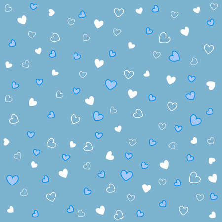 seamless pattern with hearts Stock Vector - 8647738