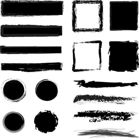 Grungy design elements  Vector