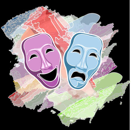 theatre comedy and tragedy masks Stock Vector - 8915784