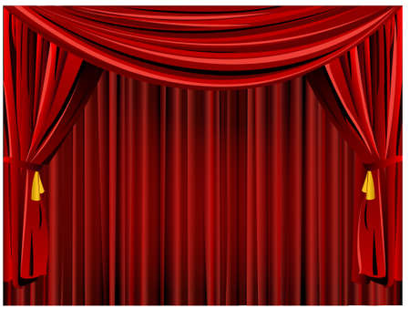 Theater curtain background Stock Vector - 8915780