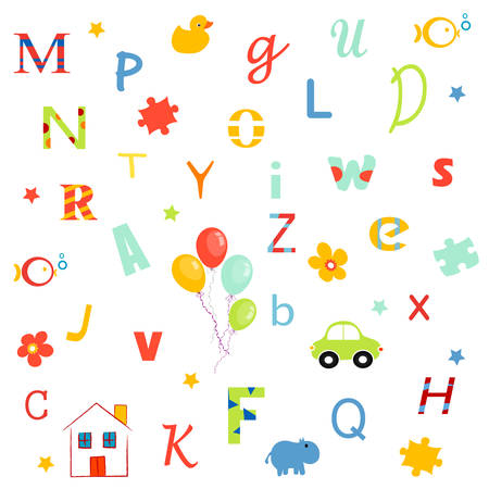 baby alphabets, letters wallpaper Vector
