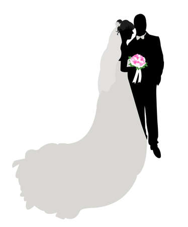 wedding - bride and groom Vector