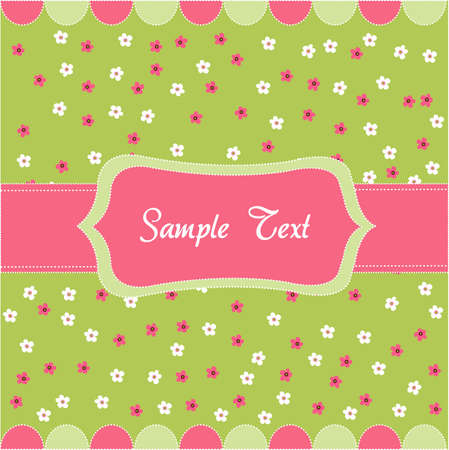 an adorable: Seamless floral pattern, baby card