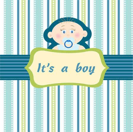 angel birthday: baby boy  Illustration