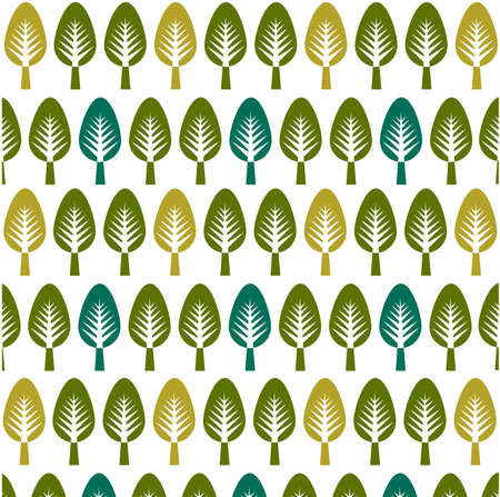 trees pattern, floral card, floral background Vector