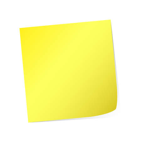 yellow post-it  Stock Vector - 8907052