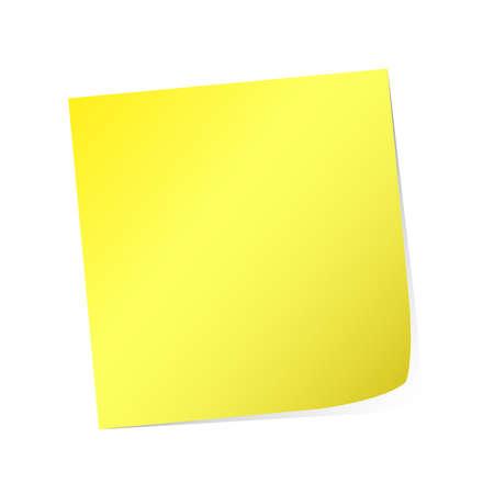 yellow post-it  Stock Vector - 8907052