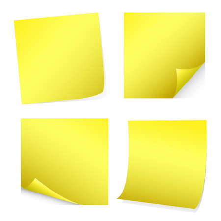 set of blank post-it, stickers Vector