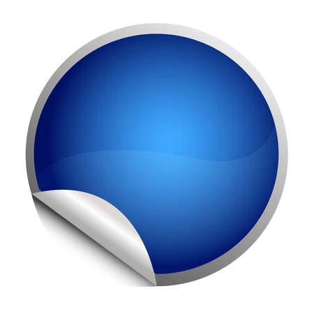 blue sticker - postit Vector