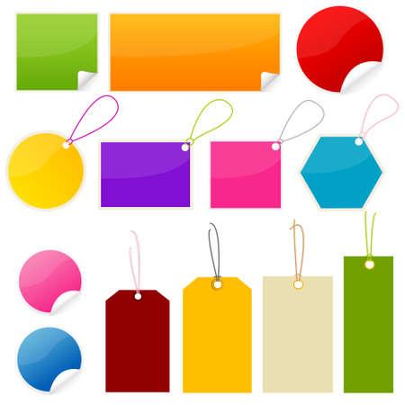 bucle: etiquetas, adhesivos Vectores