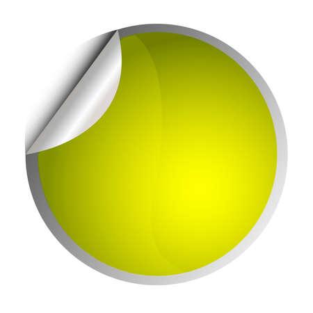 etiquette: yellow sticker - postit Illustration