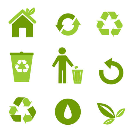 garbage collection: environmental icons