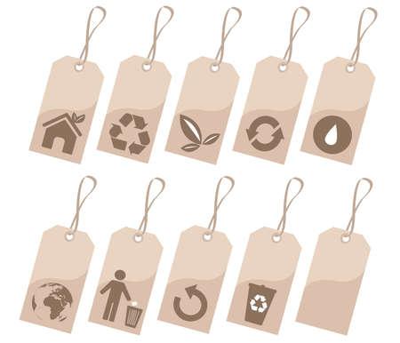 antipollution: environmental tags Illustration