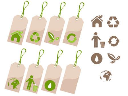 environmental tags Vector