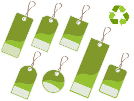 enviromental: Recycle tags Illustration