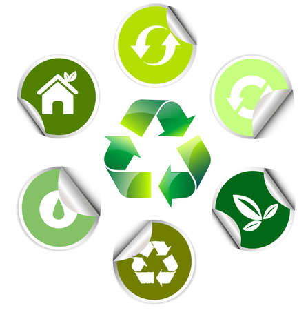 ecology sticker , icon Vector