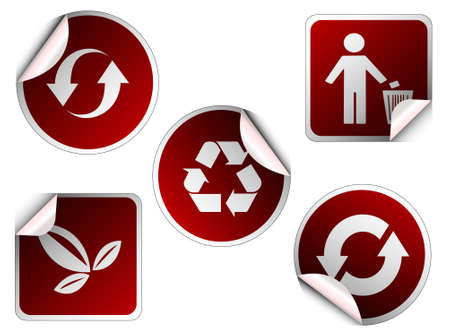 ecology sticker , icons Vector