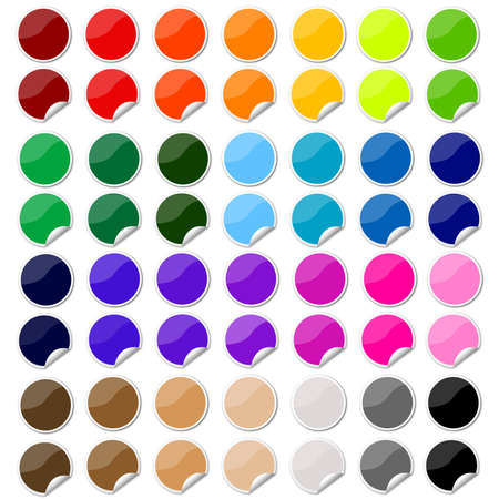 colorful sticker , postit set photo