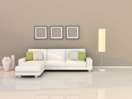 modern living room: living room with modern style Stock Photo