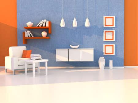 Interior of the modern room, study room photo