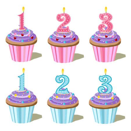 cupcake set Stock Vector - 8915567