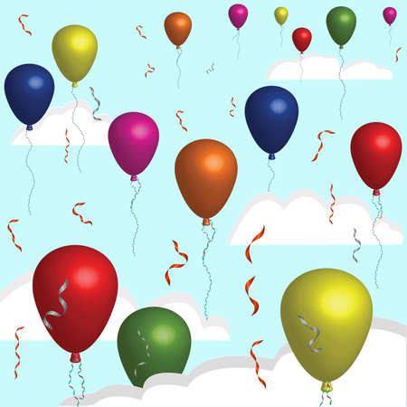 balloons Stock Vector - 8746377