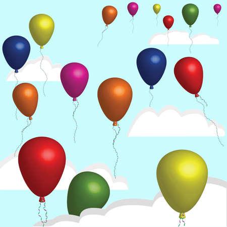 balloons Stock Vector - 8746378