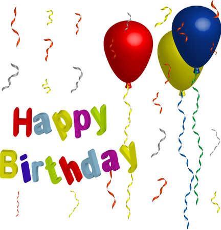 happy birthday Stock Vector - 8746373