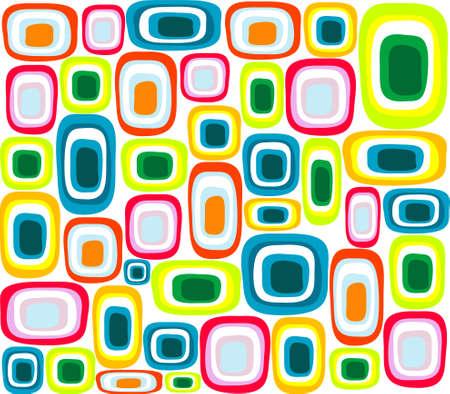 square detail: Retro fondo multicolor, papel tapiz Vectores