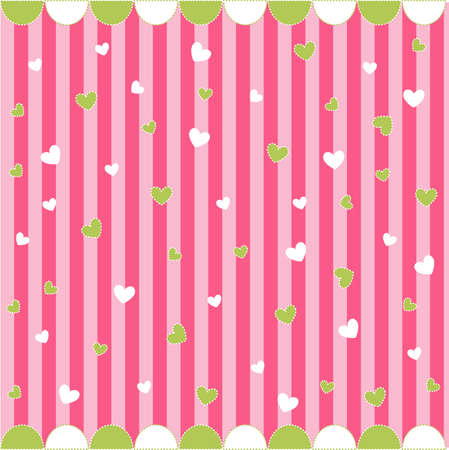 Cute seamless pattern with little hearts , baby card Stock Vector - 8647607
