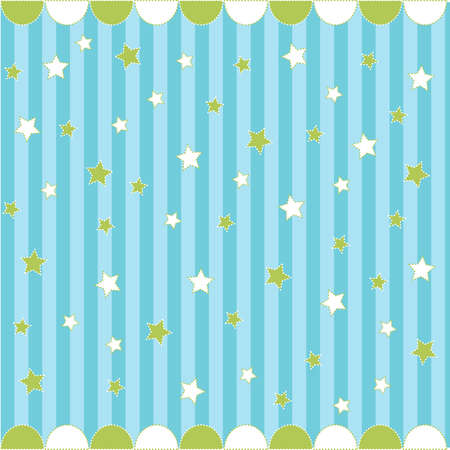 Cute seamless pattern with stars , baby card Stock Vector - 8647604