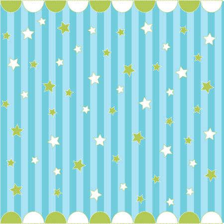 estrellas: Lindo patr�n sin fisuras con estrellas, tarjeta de beb�