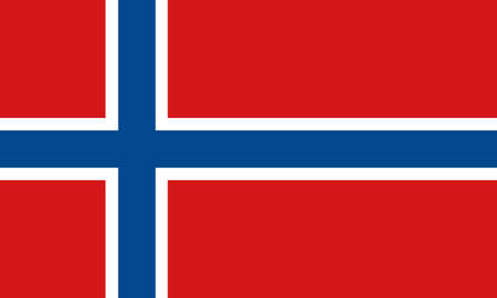norway flag: norway flag Illustration