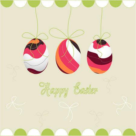 happy easter, eggs Vector