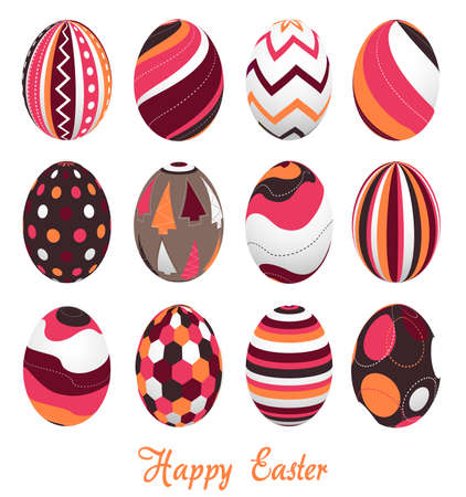 easter sunday: easter eggs, happy easter Illustration