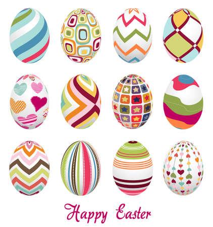 easter eggs: easter eggs, happy easter Illustration