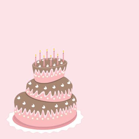 wedding cake, valentine's day Stock Vector - 8725687