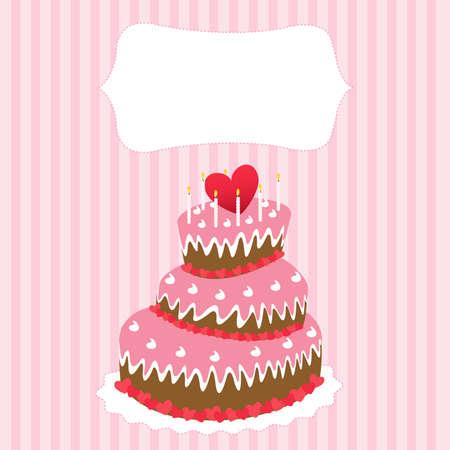 wedding cake, valentines day  Vector