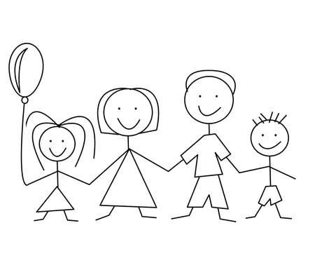 cartoon comic family Vector