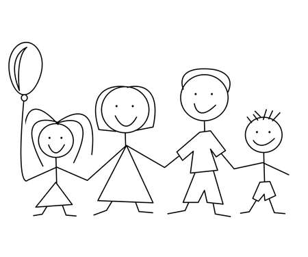 cartoon comic family Stock Vector - 8840028