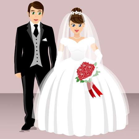 groom and bride: wedding - bride and groom