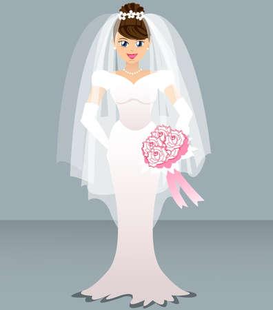 Hochzeit - Braut Vektorgrafik