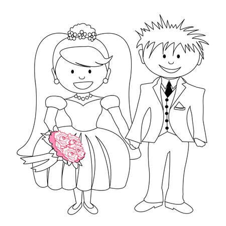 matrimonio - la sposa e lo sposo