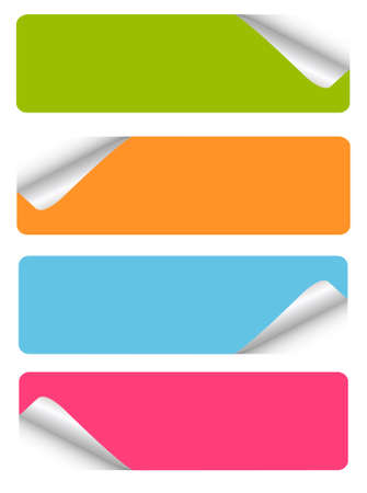 tabs: set of blank stickers
